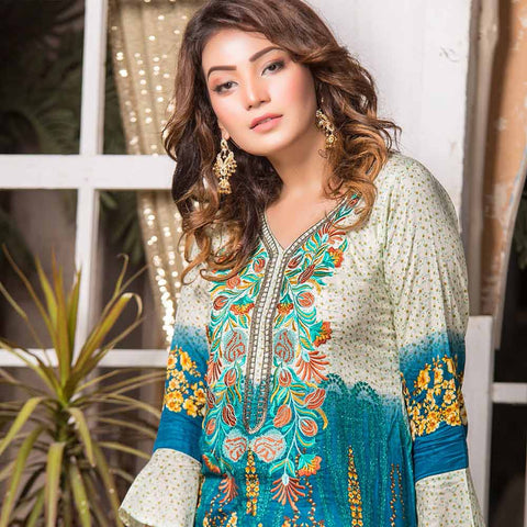 Iraar Embroidered Lawn 3 Piece Un-Stitched Suit - 5B