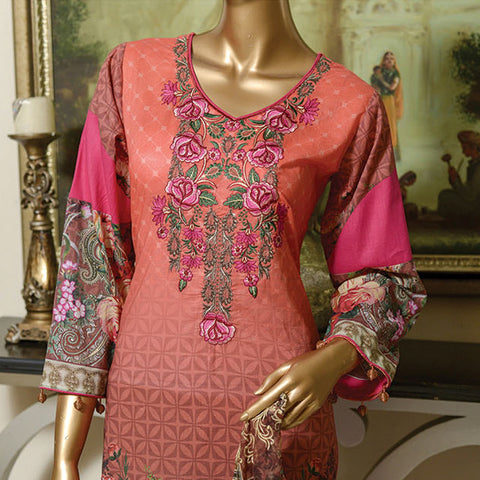Chiragh Digital Luxury Embroidered Un-Stitched Suit - 5