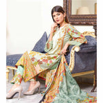 Riwaj Printed Lawn 3 Piece Un-Stitched Suit Vol 1 - 5 A