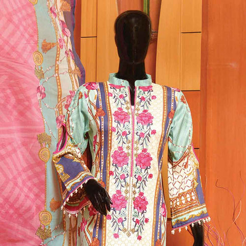 Chiragh Luxury Embroidered Un-Stitched Suit - 5B