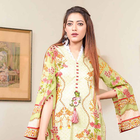 Riwaj Printed Lawn 3 Piece Un-Stitched Suit Vol 1 - 5 B