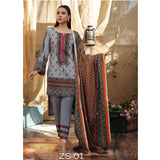 Rangreza Printed Lawn 3 Piece Un-Stitched Suit Vol 2 - 6
