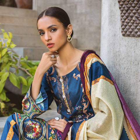 Regalia Digital Printed Embroidered Lawn 3 Piece Un-Stitched Suit - 06