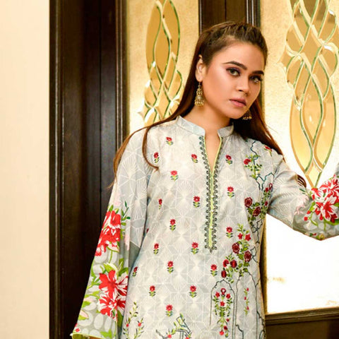 Bin Saeed Alishba Embroidered Lawn 3 Piece Un-Stitched Suit Vol 02 - B6
