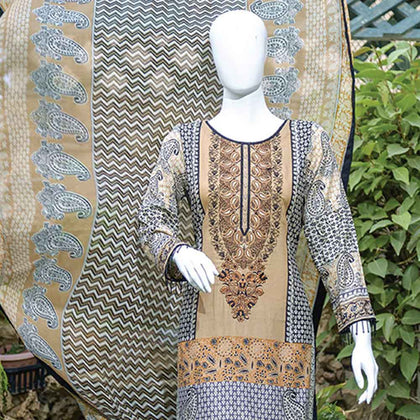 Chiragh Luxury Embroidered Un-Stitched Suit - 6A