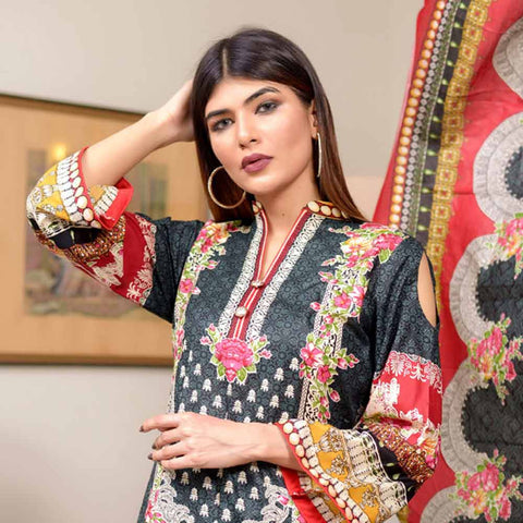 Riwaj Printed Lawn 3 Piece Un-Stitched Suit Vol 1 - 6 A
