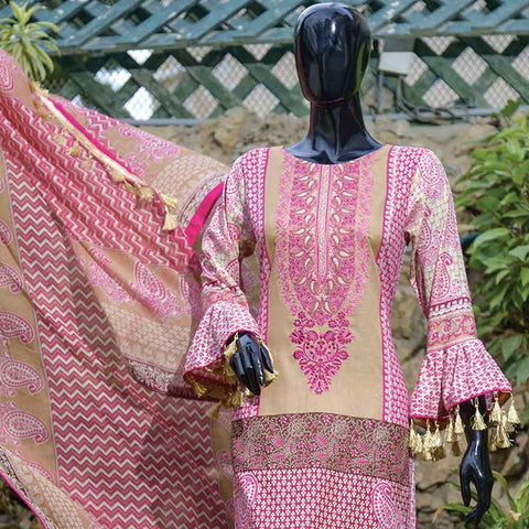 Chiragh Luxury Embroidered Un-Stitched Suit - 6B