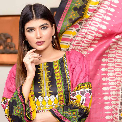 Riwaj Printed Lawn 3 Piece Un-Stitched Suit Vol 1 - 7 A
