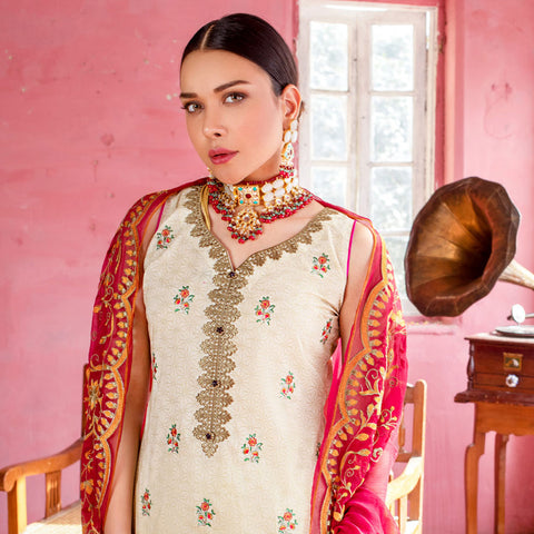 Maira Ahsan Embroidered Lawn 3 Piece Un-Stitched Suit - 08