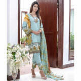 Libas Printed Cotton 3 Piece Un-Stitched Suit - 8A