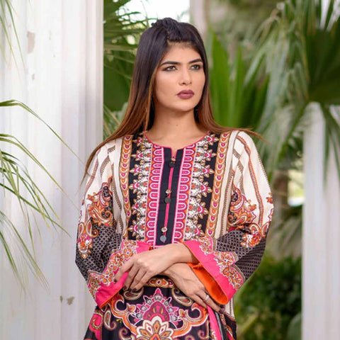 Riwaj Printed Lawn 3 Piece Un-Stitched Suit Vol 1 - 8 A