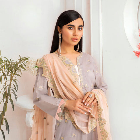 Kalyan Embroidered Lawn 3 Piece Un-Stitched Suit - 09