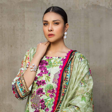 Regalia Digital Printed Embroidered Lawn 3 Piece Un-Stitched Suit - 09