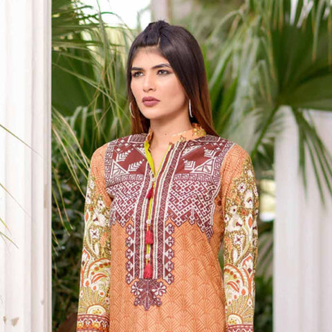 Riwaj Printed Lawn 3 Piece Un-Stitched Suit Vol 1 - 9 A