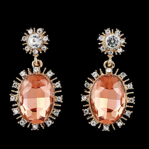 Women's Fancy Earrings - Golden Peach