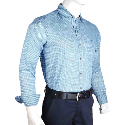Men's Business Casual Shirt - Blue