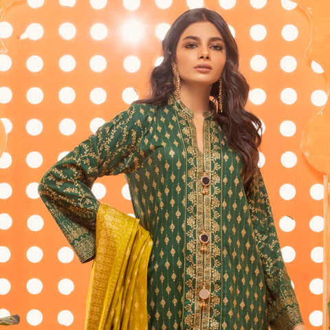 Rangreza Printed Lawn 3 Piece Un-Stitched Suit Vol 2 - 01