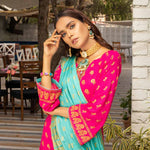 Banarsi Gold Printed Cotton 3 Piece Un-Stitched Suit Vol 2 - 01