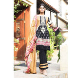 Cotrina Printed Cotton 3 Piece Un-Stitched Suit - 10