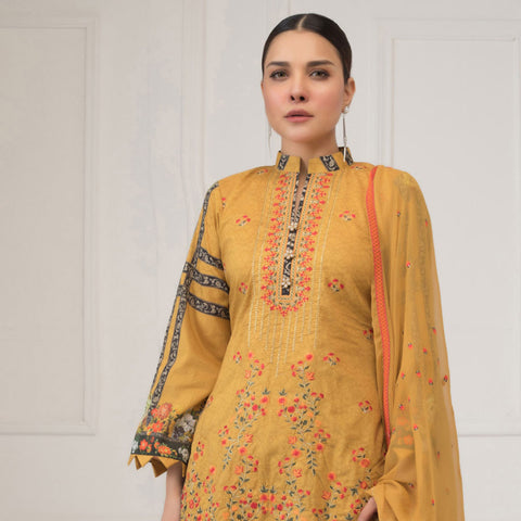 Maira Ahsan Embroidered Lawn 3 Piece Un-Stitched Suit - 10