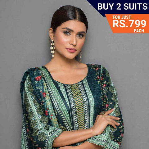 Sahil Printed Lawn Festive Suit Vol 08 - 10 - test-store-for-chase-value