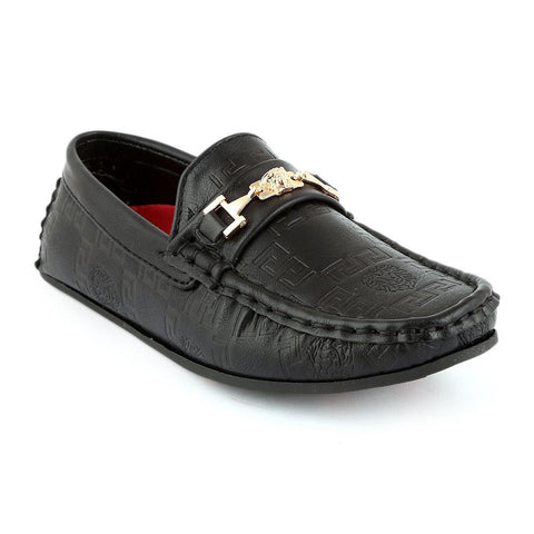 Eminent Loafer For Boys (10040) - Black - test-store-for-chase-value