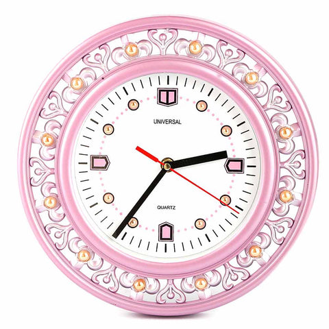 Analog Wall Clock 1004 - Pink