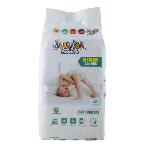 Juniors Diaper Medium 4 to 9 kg - 48 Pcs - test-store-for-chase-value