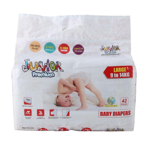 Juniors Diaper Large 9 to 14 kg - 42 Pcs - test-store-for-chase-value