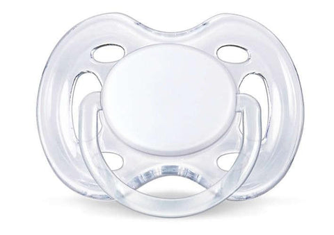 Avent Free Flow Soother 0-6m - White - test-store-for-chase-value