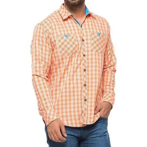Men's Casual Shirt - Orange - test-store-for-chase-value