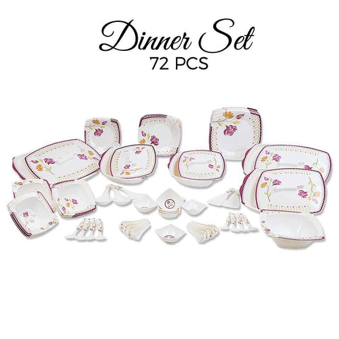 Melamine Dinner Set 72 Pieces - D # 105 - test-store-for-chase-value