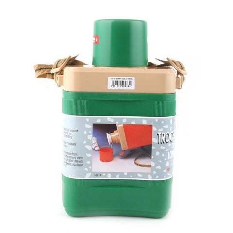 Lion Star School Water Bottle HU-3 1000ml - Green - test-store-for-chase-value