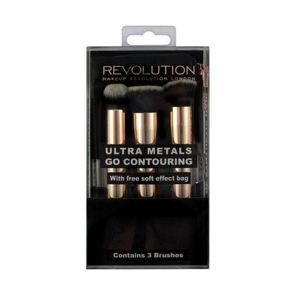 Makeup Revolution Ultra Metals Go Eye Contouring 3 Pcs - test-store-for-chase-value