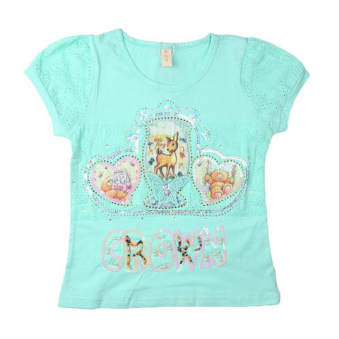 Girls T-Shirt Sea Green - test-store-for-chase-value