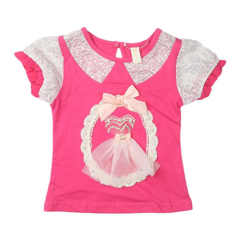 Girls T-Shirt Pink - test-store-for-chase-value