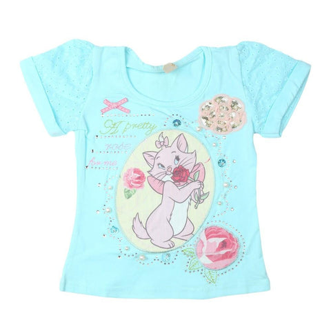 Girls T-Shirt Cyan - test-store-for-chase-value