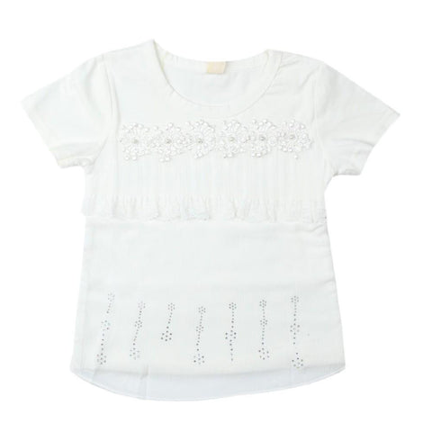 Girls T-Shirt White - test-store-for-chase-value