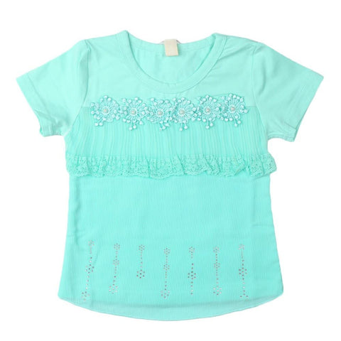 Girls T-Shirt Sea-Green - Sea Green - test-store-for-chase-value