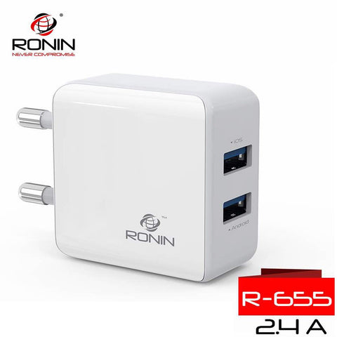 Ronin IPhone + Cable Charger White (R-655) - test-store-for-chase-value