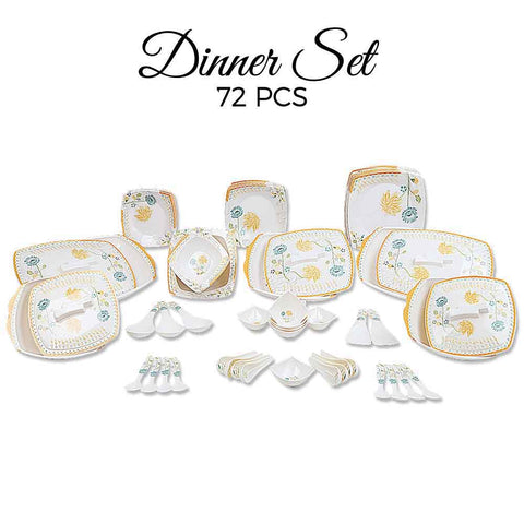 Melamine Dinner Set 72 Pieces - D # 109 - test-store-for-chase-value
