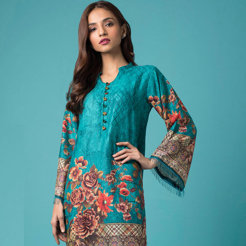 Chase Value Centre Printed Khaddar Un-Stitched Kurti Vol 2 - 10