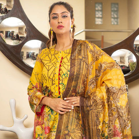 Veena Durrani Embroidered Lawn Suit - 10 - test-store-for-chase-value