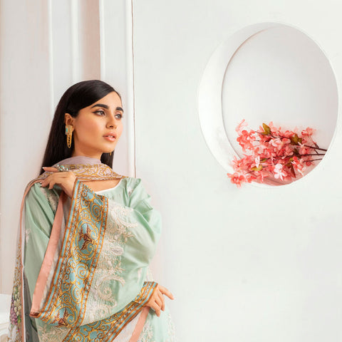 Kalyan Embroidered Lawn 3 Piece Un-Stitched Suit - 10