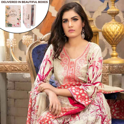 Gulzeb Embroidered Lawn Un-Stitched Suit - 10