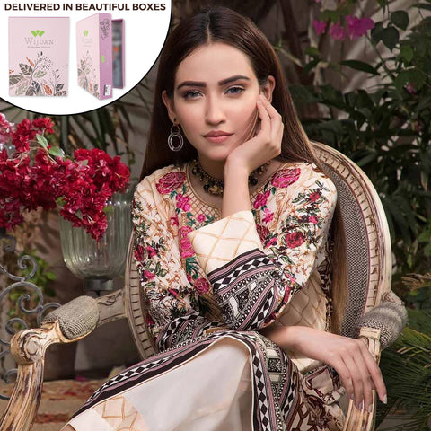 Noor Fatima Embroidered Lawn 3 Piece Un-Stitched Suit - A2