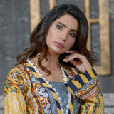 Three Star Printed Lawn 3 Piece Un-Stitched Suit Vol 1 - 10 A
