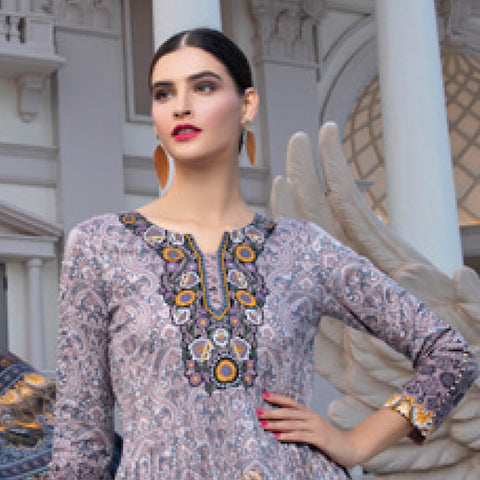 Monsoon Printed Lawn 3 Piece Un-Stitched Suit Vol 2 - 10 A