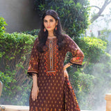 Digital Printed Khaddar 3 Piece Un-Stitched Suit - 11