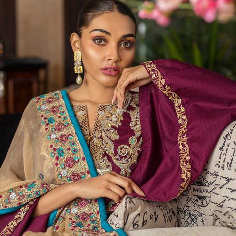 Kalyan Embroidered Lawn 3 Piece Un-Stitched Suit Vol 1 - 11